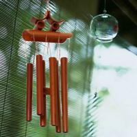 60cm Carillons à Vent Tubes de Bambou Oriental Jardin Maison Décoration  Deco +A