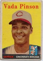1958 Topps #420 Vada Pinson ROOKIE RC Low Grade Cincinnati Reds FREE SHIPPING