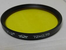 Genuine russian 0.75 2x  72mm Y (Y2) Yellow Filter, fits camera lens
