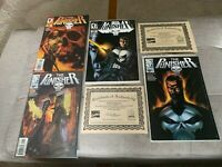 The Punisher #1 4 comic Lot Dynamic Forces Variant Ltd 5000/10000 Marvel KEY NM