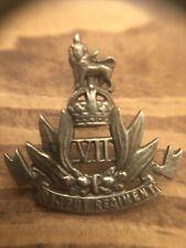 India 7th Rajput Regiment British Cap Badge Insignia Military