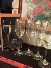 Set of 4 New NACHTMANN Vivendi Champagne Flutes Glasses Bavarian Crystal Germany