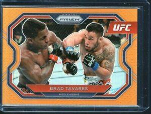 2021 UFC PRIZM DEBUT EDITION BRAD TAVARES  Orange #rd 25/99