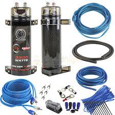 Raptor True 4 Gauge Amp Kit and 3.3 Farad Capacitor 1100 Watts Car Audio Kit Set