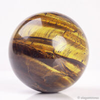 383g 64mm Large Natural Tiger Iron Stone Quartz Crystal Sphere Healing Ball