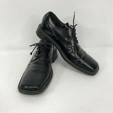 Kenneth Cole Mens Euro Size 44 Black Leather Made in Italy Lace-Up Dress Shoes