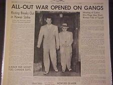 Vintage Journal Headline~ L.A.Emplacement Wars Gangsters Pistolet Bataille Man