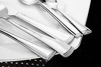 NEW Lorena Flatware RUMER 45-piece Silverware Set - Stainless 45pc Serving for 8