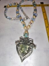 Vintage Crystal Necklace with Vintage Centerpiece, you can put our own pic in