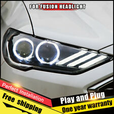For Ford Fusion Headlights assembly Bi-Xenon Lens Double Beam HID KIT 2017-2020