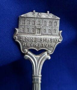Vintage Alþingishúsið Reykjavik Iceland Souvenir Spoon