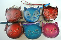 Hand Made Leather Zipper Coin Purse -  Animal Design Hand Crafted, Gift or treat