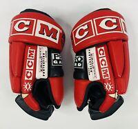 Vintage CCM 610 Free Flexxx Hockey Gloves Red, White & Black (Read Description)