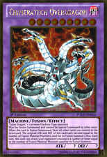 PGLD-EN056 Chimeratech Overdragon 1st Edition Gold Rare Yugioh Card