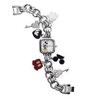 Disney Mickey Mouse Stainless Steel Charm Bracelet Watch MK2049