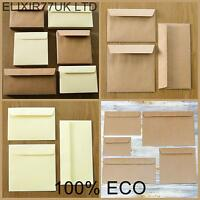 C7 C6 C5 DL A5 BROWN KRAFT IVORY ENVELOPE CARD SMALL PAPER CRAFT MAKING SUPPLIES