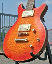 Ars PREZIOSI Chitarra Elettrica * DOUBLE CUT * Quilted Maple * humbucker * Grover * Mogano