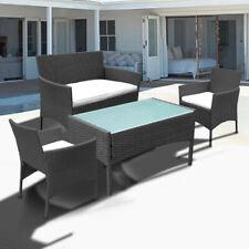 Gartenmöbel Gartenset Gartenlounge Sitzgruppe Kissen Tisch Garnitur Schwarz