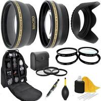 Accessory Kit (Lens-Filters-Backpack) For Canon EOS Rebel T6 SL2 1300D 200D