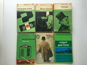 6 Vintage Penguin Crime Books Georges Simenon Maigret Innes Tey Dickson Carr