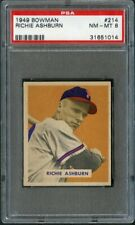 1949 Bowman 214 Richie Ashburn Phillies PSA 8 31651014