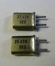 2 Quarze 27 MHZ (Sender  und Empfänger) Kanal 6  S 27,025  E 26,570