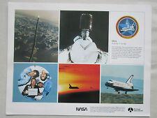 DOCUMENT NASA ROCKWELL RECTO COLUMBIA STS-5 SPACE SHUTTLE ALLEN LENOIR OVERMEYER