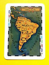 Map of the African Africa Continent Joker Single Swap Playing Card