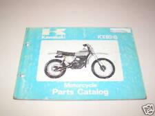 Parts Catalog Kawasaki KX 80 B Stand 1978