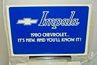 Vintage 1980 Chevrolet Impala 2X Sided Dealership Advertising Sign W/ Bracket