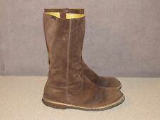 CAMPER Brown Suede Leather Side Zip Riding Boots Women's Size 40