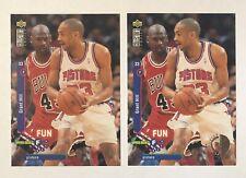 Michael Jordan Grant Hill 1995-96 Upper Deck CC (1) Base (1) Player's Club Cards
