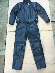 "SPORTEX Ladies 2 piece Leather Suit UK 12 to 14 = 38"" chest UK 12 waist = 30"""