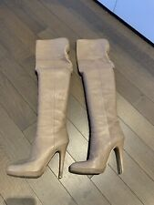 Jimmy Choo Over The Knee Leather Boots