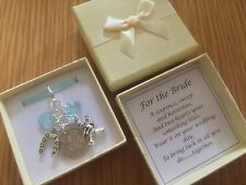 LUCKY SIXPENCE, BRIDE, garter charm, horseshoe, chimney sweep, PERSONALISED box