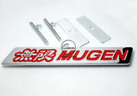 Mugen Chrome Front Grill Badge with Red Lettering Civic Integra Accord Prelude