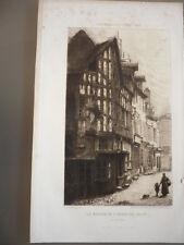 GRAVURE 1865 LA MAISON DE L'ARBRE DE JESSE A JOIGNY YONNE