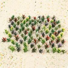 100Pcs 1:100 Scale Plastic Flowering Plants Landscape Railway Layout Scenery