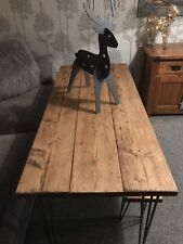 Handmade Rustic Scaffold Board Table and Bench