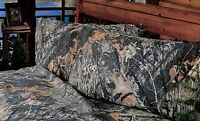 Mossy Oak New Break Up 2 KING Pillowcases Camouflage Rustic Cabin Fall Hunting