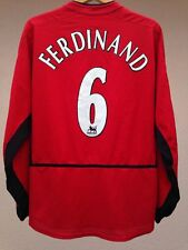 MANCHESTER UNITED FERDINAND #6 2002/2003/2004 HOME FOOTBALL SHIRT JERSEY NIKE