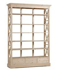Grande libreria in legno Abete non smontabile al grezzo cm 140x40 h 200 Nuova