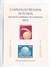 chile 1974 Sc 447/8 munich ,proof,carton paper MNH      b1620