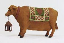 Blossom Bucket Cow Carrying Lantern Primitive Folksy Decor 82905