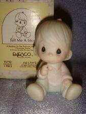 Precious Moments - 15792 - MIB- TELL ME A STORY - Baby Boy Sitting - 1985