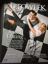 Courtney Force Graham Rahal Signed Magazine NHRA Indy Series Autograph