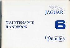 Jaguar Daimler XJ6 Sovereign Series III Maintenance Handbook 1979 Pub AKM 8045