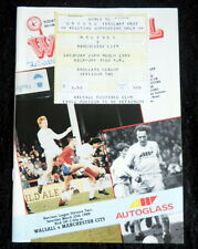 Walsall v Manchester City    25-3-1989   & ticket