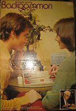 Vintage 1973 Pressman Oswald Jacoby Backgammon Board Game Bakelite Pieces RARE!!