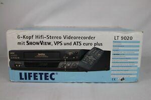 Lifetec LT9020 6-Kopf Videorecorder Videorekorder Longplay VHS *Neu/New*